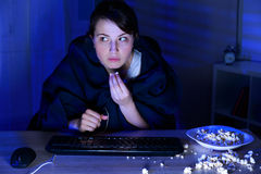 Addiction to the internet Royalty Free Stock Photo