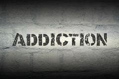 Addiction word gr Royalty Free Stock Photography