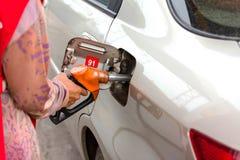 Addieren Sie Brennstoff Stockbilder