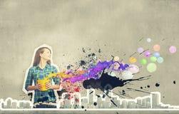 Addieren Sie etwas Farbe! Stockfoto