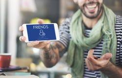Addieren Sie Freund-Social Media-Grafik-Konzept Lizenzfreie Stockfotografie
