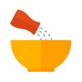 Addieren Sie Salz Lizenzfreie Stockfotos