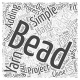 Adding Beads to Your Crochet Projects word cloud concept. Background Stock Illustration