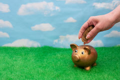 Adding  a lot to you savings account Stock Images