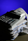 Adding machine. A business and Financial concept, Lit with gels not photoshoped Royalty Free Stock Images