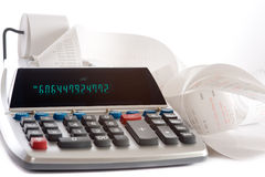 Adding Machine Royalty Free Stock Images