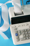 Adding machine close up Royalty Free Stock Photography