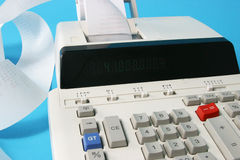Adding machine close up Royalty Free Stock Images