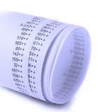 Adding Machine Tape Stock Images