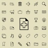Adding a sheet icon. Detailed set of minimalistic icons. Premium graphic design. One of the collection icons for websites, web des. Ign, mobile app on colored Stock Photography