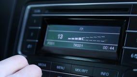 Adding sound on the radio stock footage