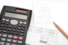 Adding Up Monthly Expenses Stock Photography