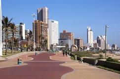 Addington海滩散步在德班南非 免版税库存照片
