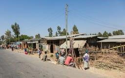 Addis Ababa, Äthiopien, am 30. Januar 2014, Männer und Frauen, die O sitzen Lizenzfreies Stockbild