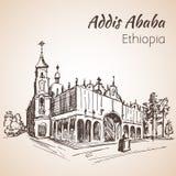 Addis Ababa Cathedral bosquejo Fotos de archivo libres de regalías