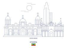 Addis Ababa City Skyline, Etiopía Foto de archivo libre de regalías