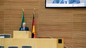 President Joachim Gauck delivers his speech Royalty Free Stock Photography