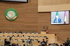 President Joachim Gauck delivers his speech Stock Image