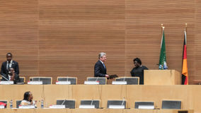 President Joachim Gauck arriving at AUC Stock Photos
