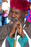 Addis Ababa, Ethiopia, 19th January 2008: Portrait of Ethiopian Orthodox Priest royalty free stock photos