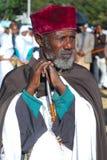 Addis Ababa, Etiopia, il 19 gennaio 2008: Pri ortodosso etiopico fotografia stock