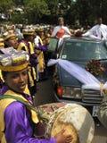 Addis Ababa, Etiopia, Janury 14th 2007: Ślubny świętowanie zdjęcia royalty free