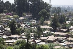 Addis Ababa. Hous roofs in Addis Ababa Royalty Free Stock Photos