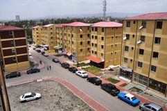 Addis Ababa Housing Project-Gotera Condominium in 2011 royalty-vrije stock afbeelding
