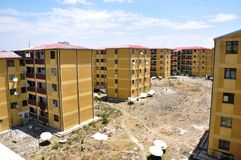 Addis Ababa Housing Project-Gotera Condominium im Jahre 2011 stockbild