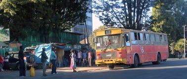 Addis Ababa-Straßen Lizenzfreies Stockbild