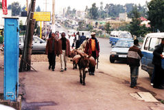 Addis- Abebaleben Stockbild