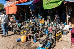 Addis Mercato in Addis Abeba, Ethiopia in Africa. royalty free stock images