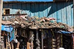 Addis Mercato w Addis Abeba, Etiopia w Afryka obrazy stock