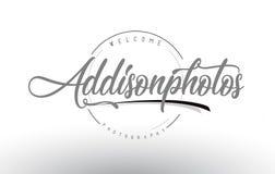 Addison Personal Photography Logo Design con el fotógrafo Name Imagen de archivo libre de regalías