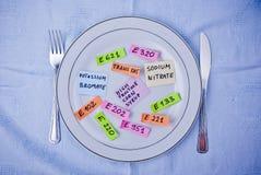 Additieven voor levensmiddelen Stock Afbeelding