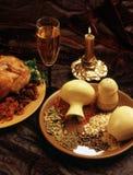 Additifs aromatiques à la poule (type de nourriture) Images stock
