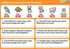 Free Addition And Subtraction Word Problems Royalty Free Stock Photo - 136480125