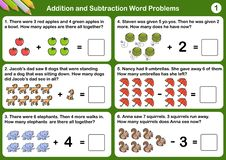 Free Addition And Subtraction Word Problems Stock Photo - 136480140