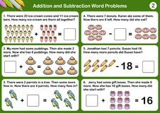 Free Addition And Subtraction Word Problems Stock Image - 136480161