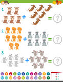 Addition maths activity for kids Royalty Free Stock Photography