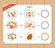 Addition number - Worksheet for education Royalty Free Stock Photos