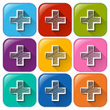 Addition sign icons Stock Photo