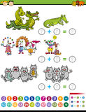 Addition task for preschool kids Stock Images