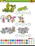Addition task for preschool kids Stock Images