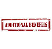 Additional benefits Stock Photography