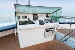 Additional control panel of modern sailing ship Royalty Free Stock Photos