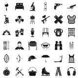 Additional equipment icons set, simple style. Additional equipment icons set. Simple set of 36 additional equipment vector icons for web isolated on white Stock Image