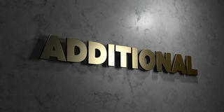 Additional - Gold text on black background - 3D rendered royalty free stock picture Royalty Free Stock Photos