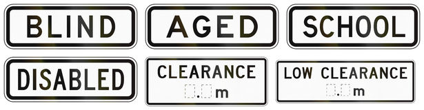 Additional Panels for road signs Stock Images