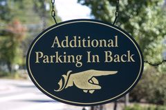 Additional parking sign Royalty Free Stock Photo